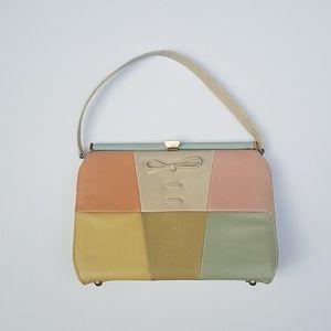 Vintage handbag - mod / retro / mid century look